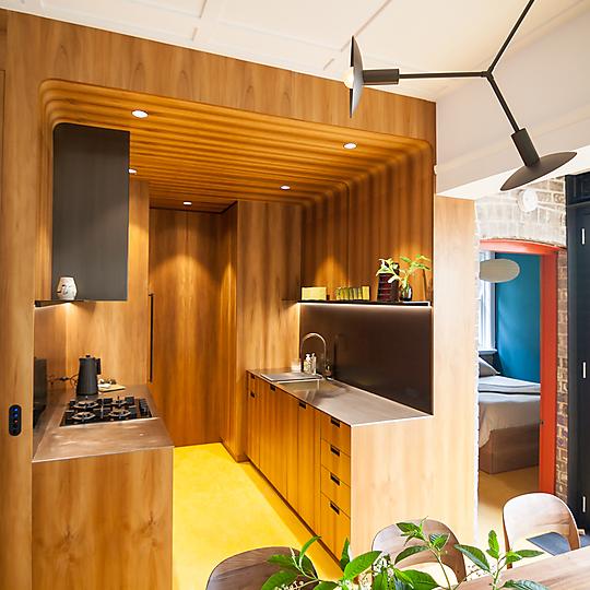 Interior photograph of Coodye Apartments by Alejandro Galdo Cora