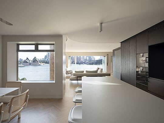Interior photograph of Kirribilli Apartment by Tom Ferguson