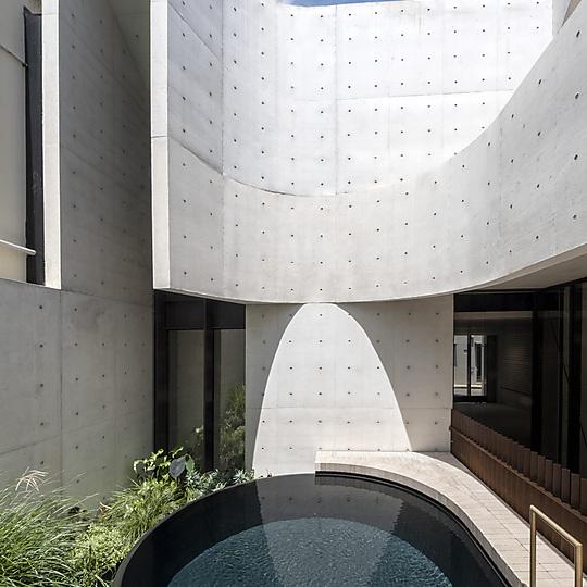 Interior photograph of Indigo Slam pool by David Roche