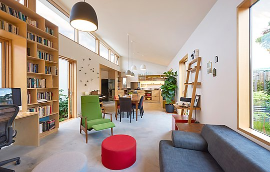 Interior photograph of Sol House by Nick Bowers